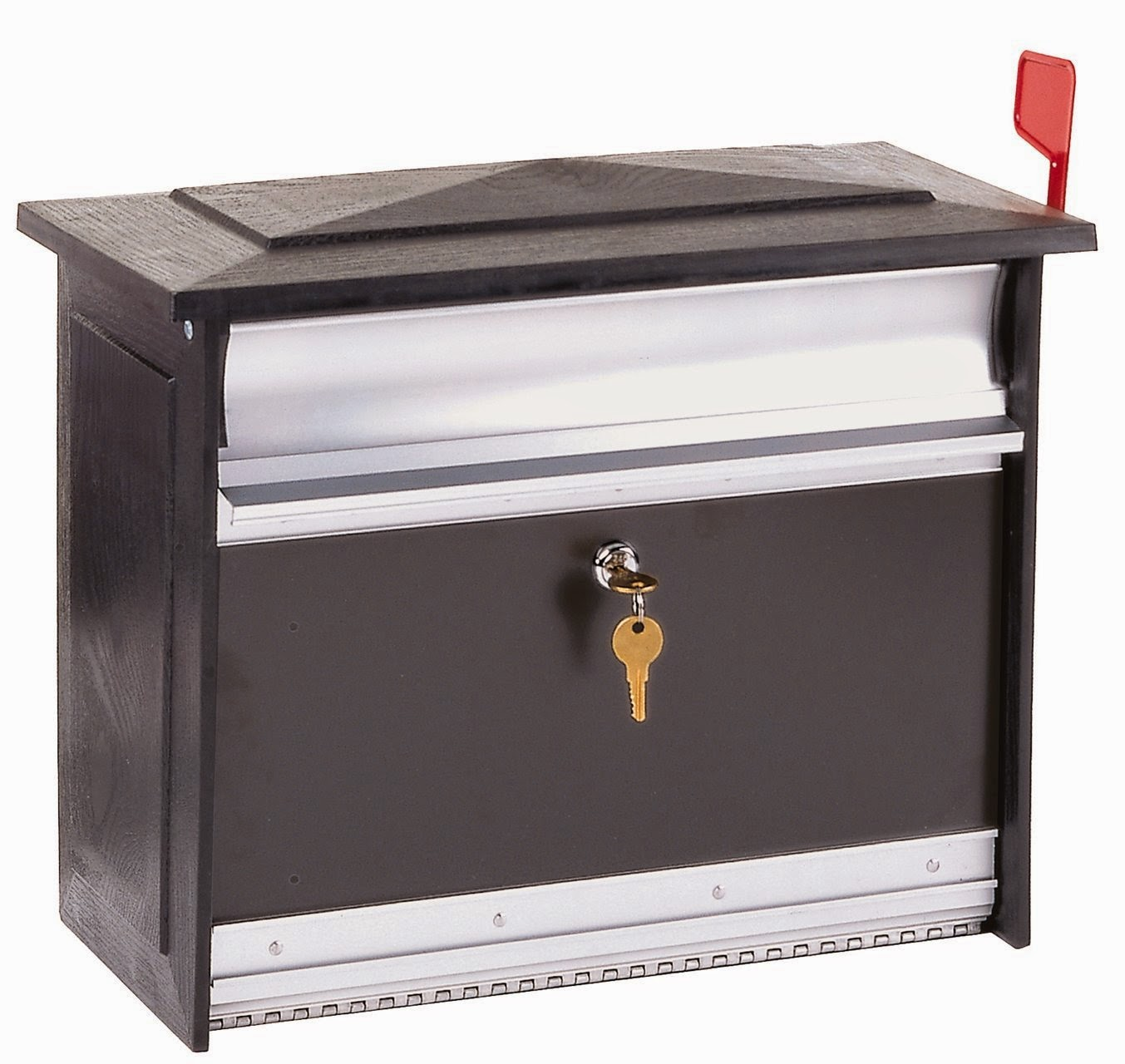 grey lockable mailbox design ideas
