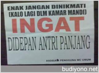 aturan wc umum