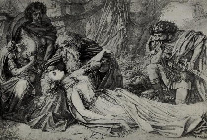 an analysis of the death of cordelia in king lear by william shakespeare Enjoying king lear, by william shakespeare  (having just been spared a civil war following the death of  king lear, thinking of cordelia's most small.