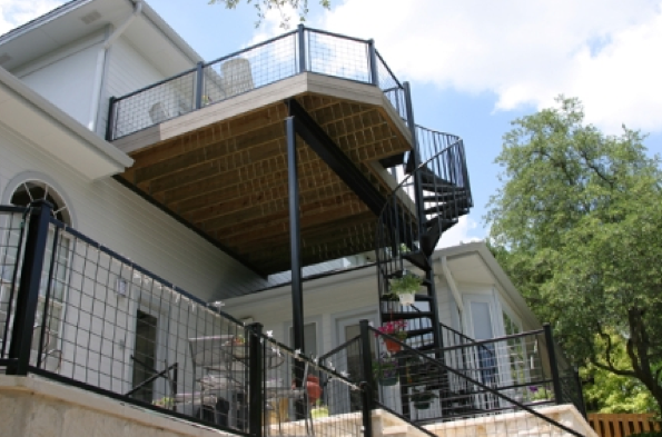 What About A 2nd Story Deck? If The Structure Is To Be Built High Off The  Ground, As Would Be The Case Where The Exit Door Is From An Upper Level, ...