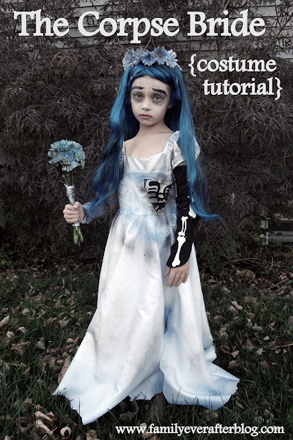 which is why we were totally okay letting our 5 year old choose to be the corpse bride for halloween she plays the part perfectly - The Corpse Bride Halloween Costume