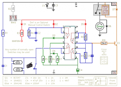 simple cmos motorcycle alarm circuit diagram all about wiring cmos motorcycle alarm circuit diagram