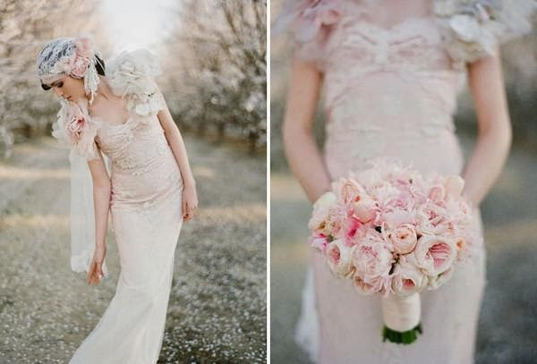 """Hoa cưới đẹp 1 màu """" ton sur ton"""" không hề đơn điệu7"""