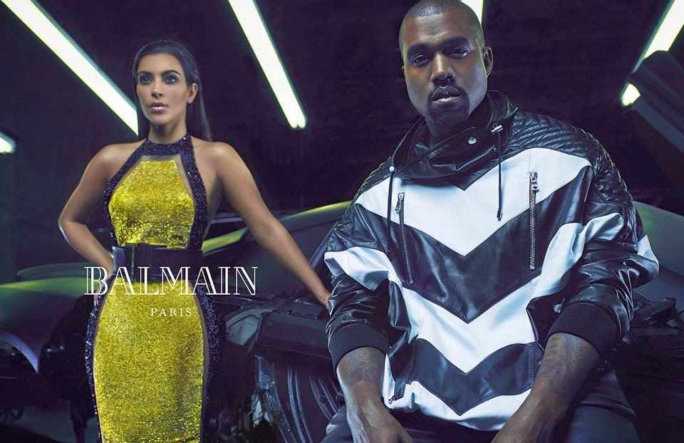 kanye west kim kardashian fashion shoot balmain kimye 2014 keeping up