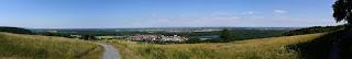 Panoramablick vom Michaelsberg bei Bruchsal-Untergrombach