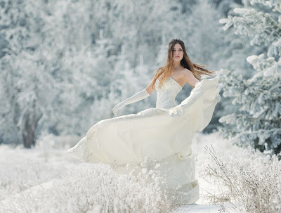 Свадебное фото: снежная королева