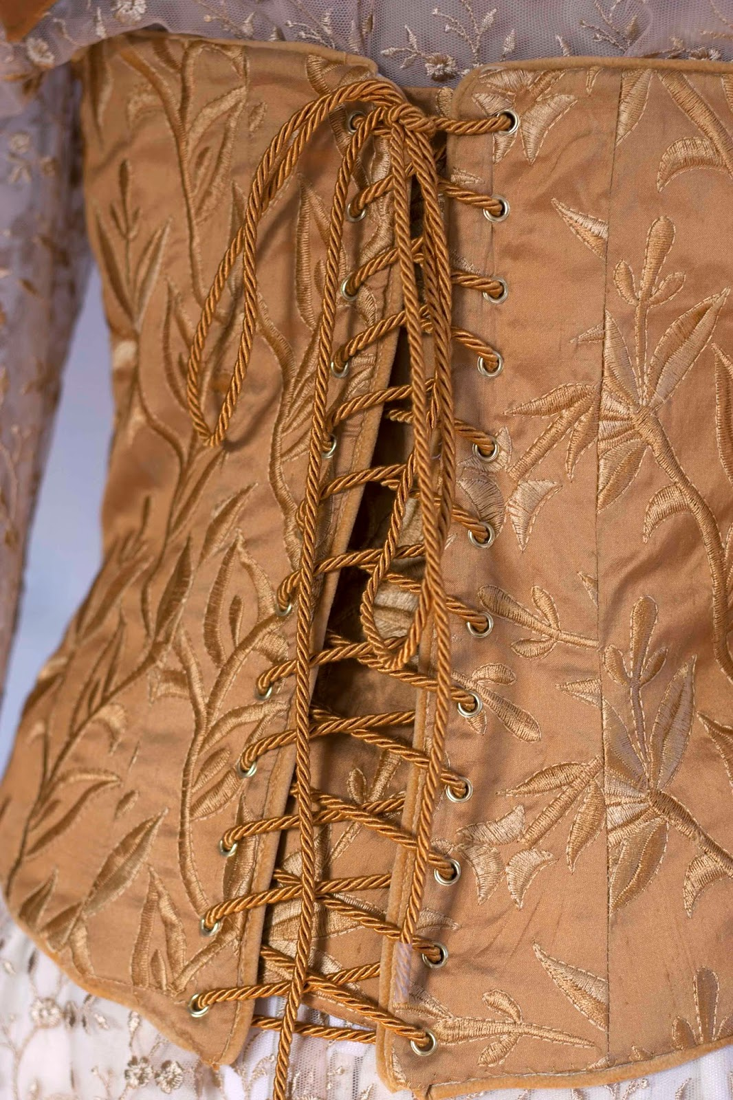 back view of corset with laces