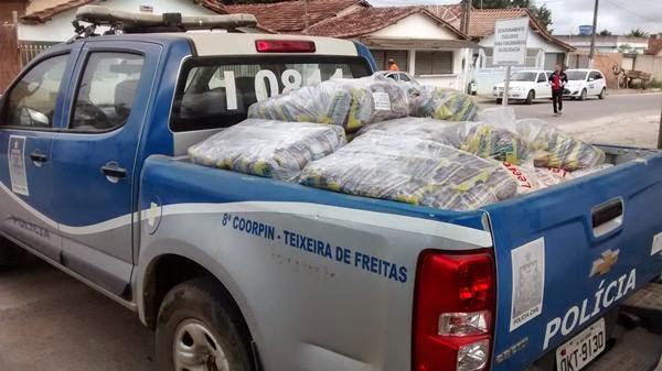 Material foi apreendido na sexta-feira (Foto: Sul Bahia News)