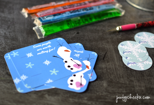 Frozen Olaf Valentine Card from www.poofycheeks.com