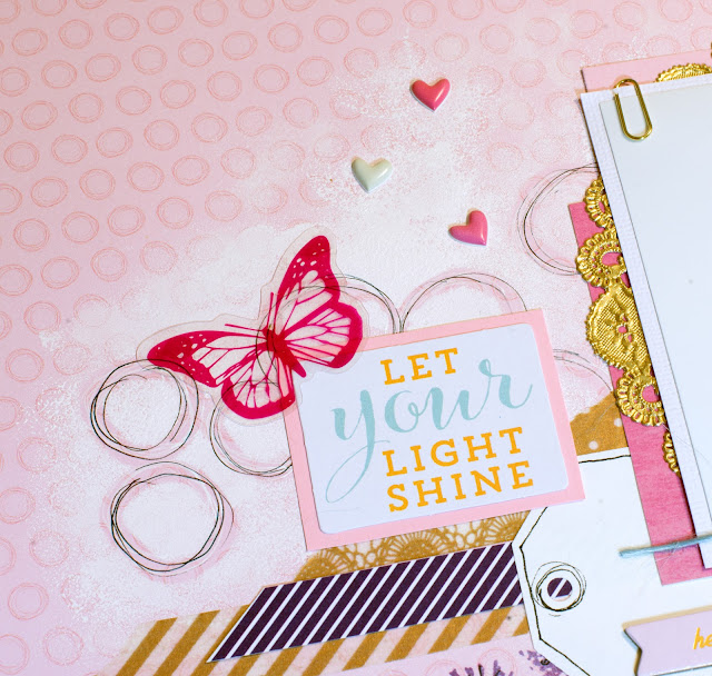 Scrapbooking layout, details