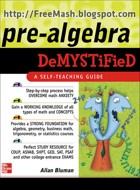 Pre-Algebra DeMYSTiFieD A SELF-TEACHING GUIDE PDF Ebook