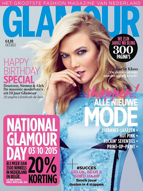 Fashion Model @ Karlie Kloss - Glamour Netherlands, October 2015