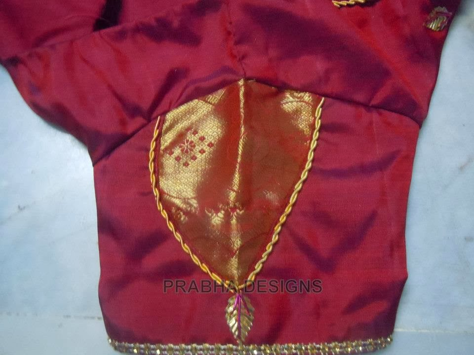 Indian wedding silk blouse sleeve designs