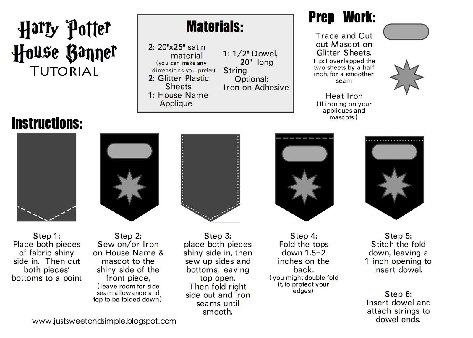 just Sweet and Simple: Harry Potter Banner Tutorial