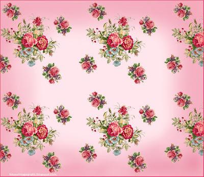 fondo vintage de rosas con tonos pastel