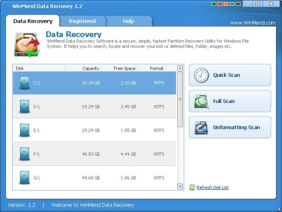 WinMend Data Recovery Tools