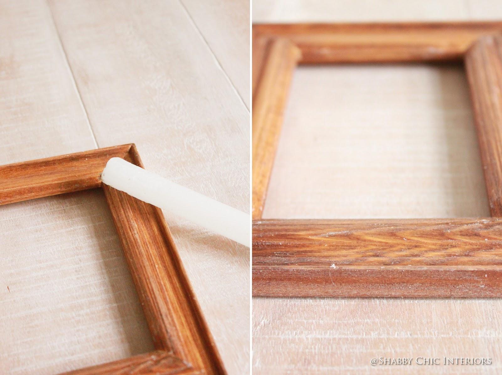 Divertendosi con una cornice shabby chic interiors for Cornice foto legno
