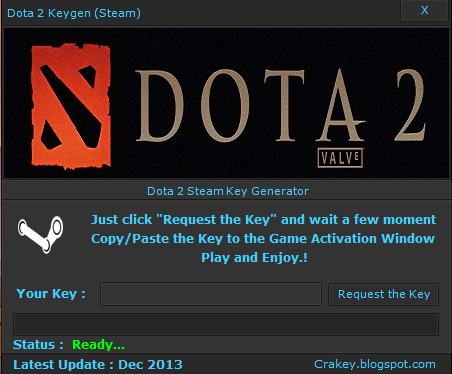 Dota 2 (Steam) Key Generator Free Download November 2014