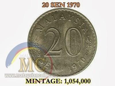 20 sen 1970