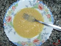 Bolitas de pollo con queso-huevo batido