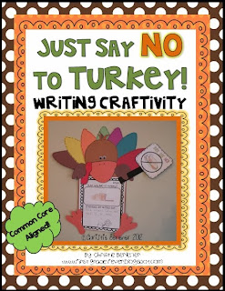 http://www.teacherspayteachers.com/Product/Just-Say-NO-to-Turkey-Common-Core-Writing-Craftivity-415216