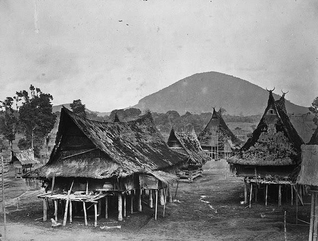 Batak village, circa 1870