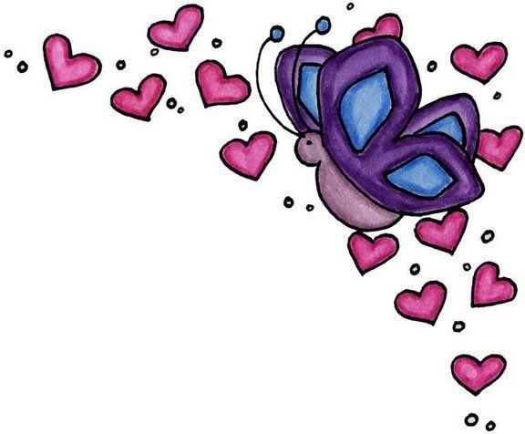 corazones y mariposas para imprimir