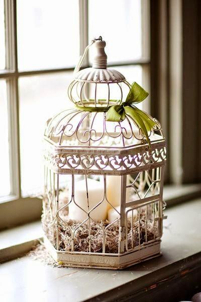 15 jaulas de p jaro inspiradoras para una decoraci n vintage for Decoracion vintage reciclado