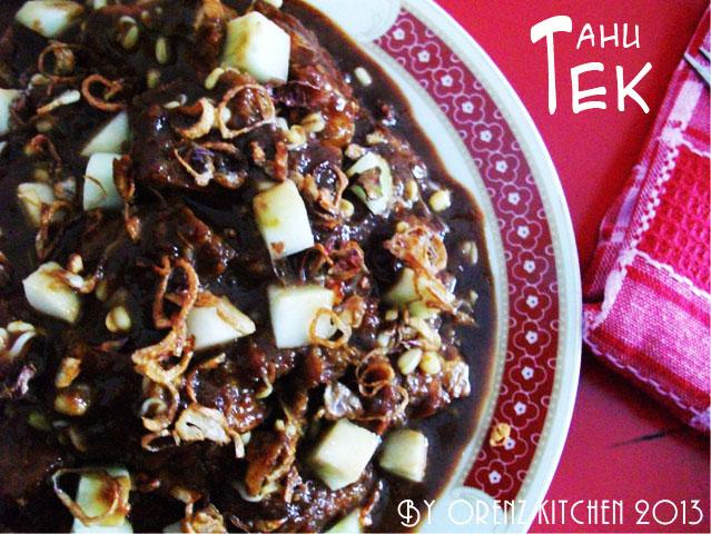 Indonesian food blogger tahu tek - Tek cuisines crissier ...