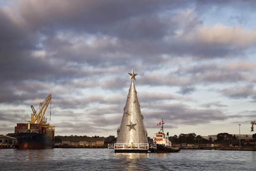 Floating Christmas Tree in Corio Bay, Australia