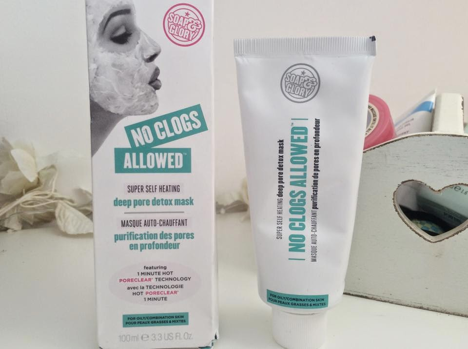 UK lifestyle blogger UK beauty blogger review swatch soap & glory no clogs allowed super self-heating deep pore detox mask exfoliating mask face scrub facial scrub facemask