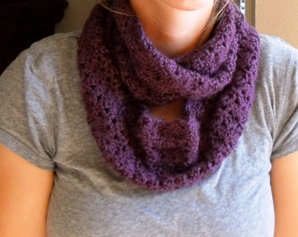 Crocheting Infinity Scarf : Grow Creative Blog: Crochet Infinity Scarf