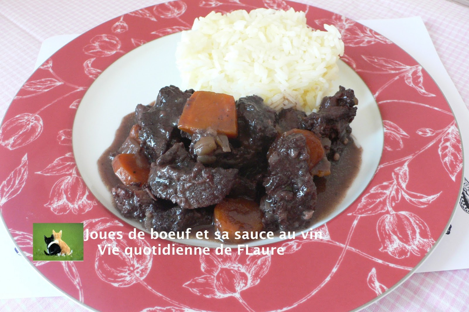 Joues de b uf et sa sauce au vin blogs de cuisine - Recette joue de boeuf au four ...