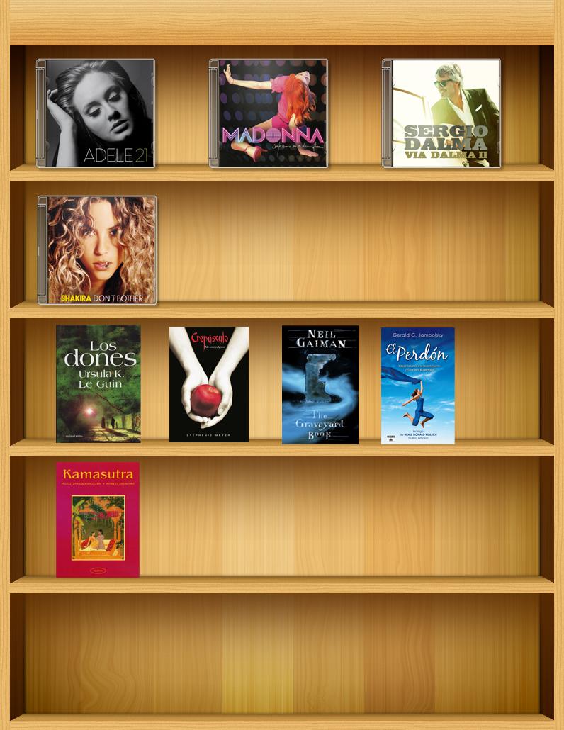 Creaciones photoshop estanteria - Estanterias diseno para libros ...