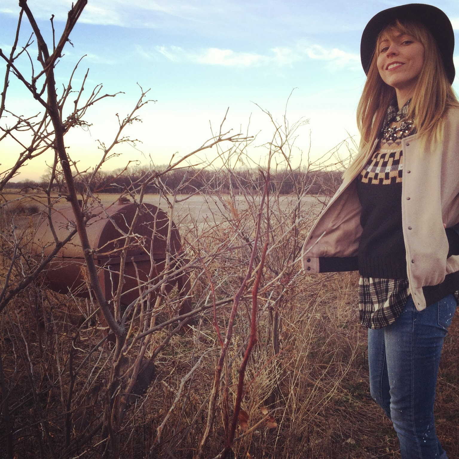 Nebraska, cornfield, Madewell, Topshop, Plaid, Denim, Fashion, Casual, Roots, Blonde
