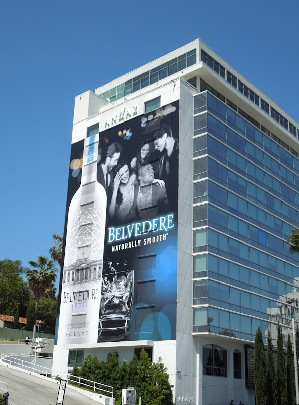 Belvedere Vodka Naturally Smooth billboard Andaz Hotel