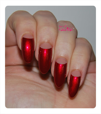 Guest blog - talonted ~ half moon manicure / reverse manicure