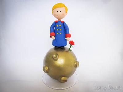 Pequeno Príncipe Topo de Bolo Biscuit