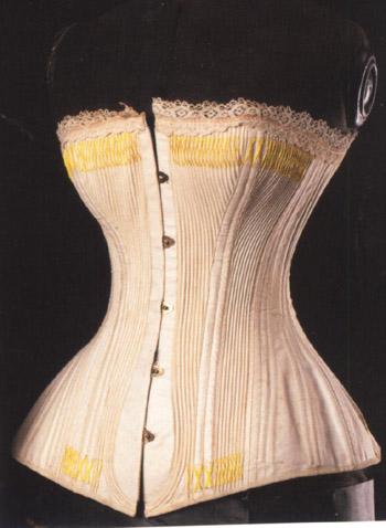 all the pretty dresses small bustle era corset