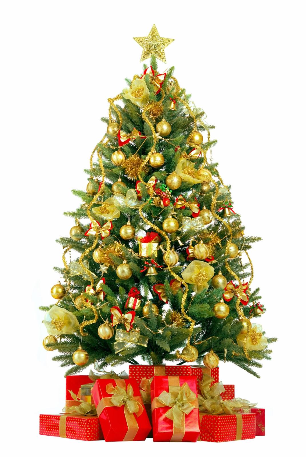 Banco de im genes pinito de navidad decorado con esferas - Arbol de navidad con regalos ...