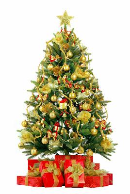 Arbolito de Navidad con esferas y regalos