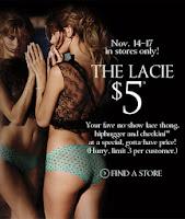 victorias secret rewards card lacie panties