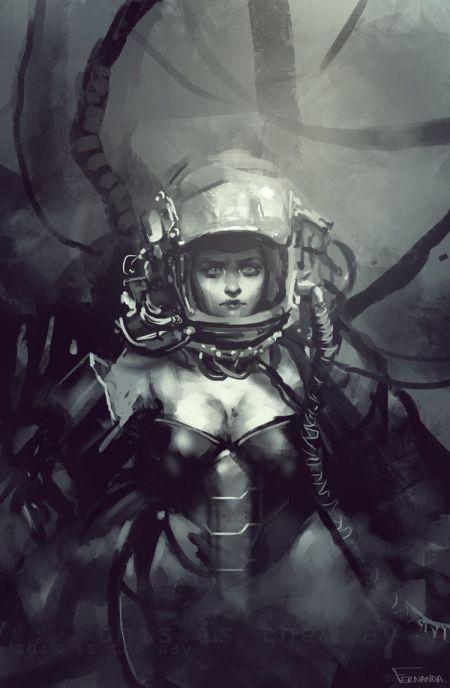 fernanda suarez ilustrações fantasia mulheres O caminho