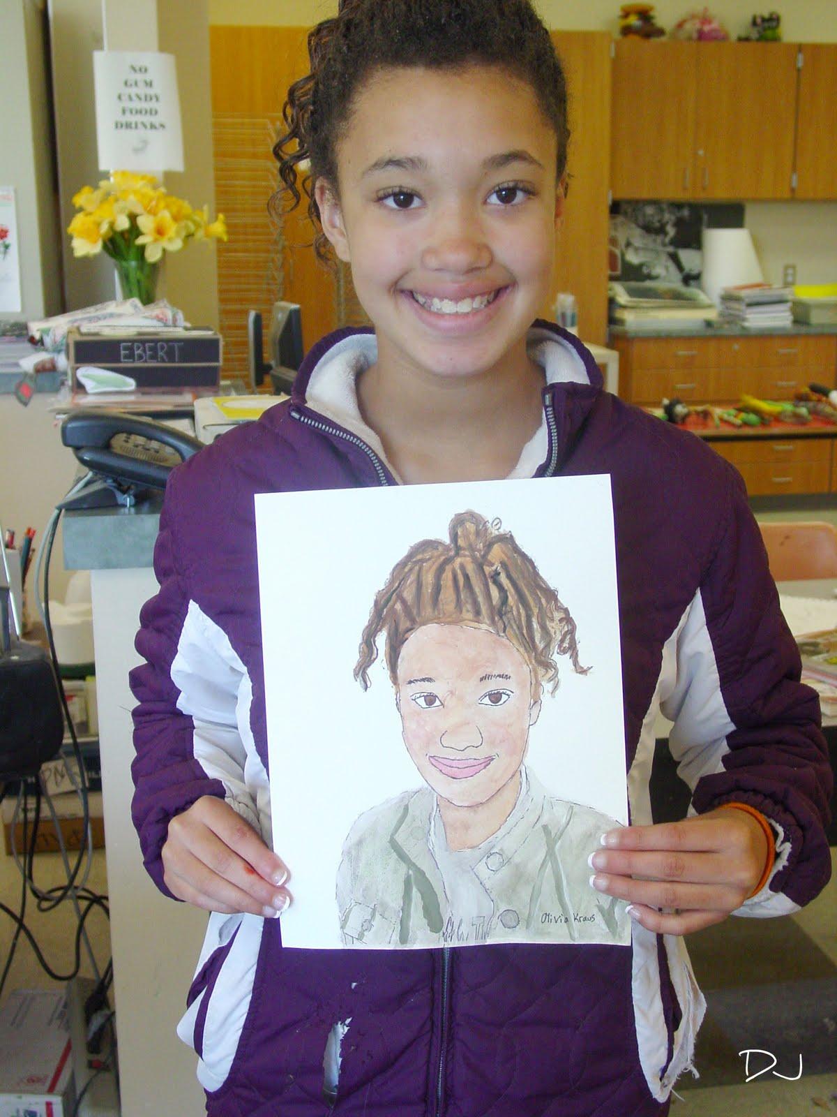 Kids Art Self Portraits