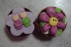 Cupcakes Ursos e Flor de Lis.