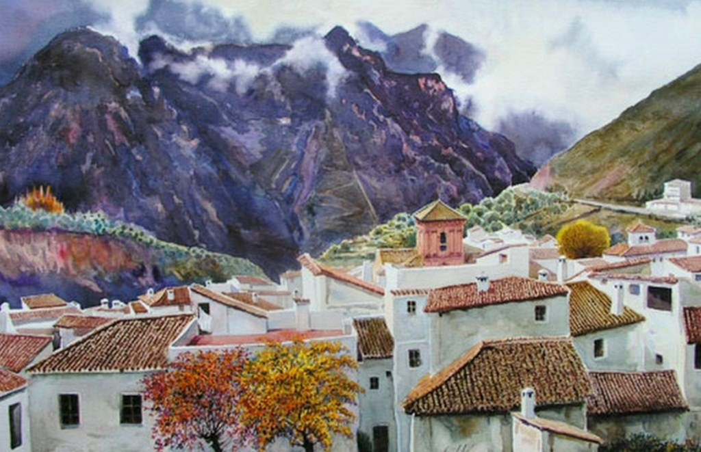 Im genes arte pinturas paisajes pintados en acuarela for Papel pintado paisajes