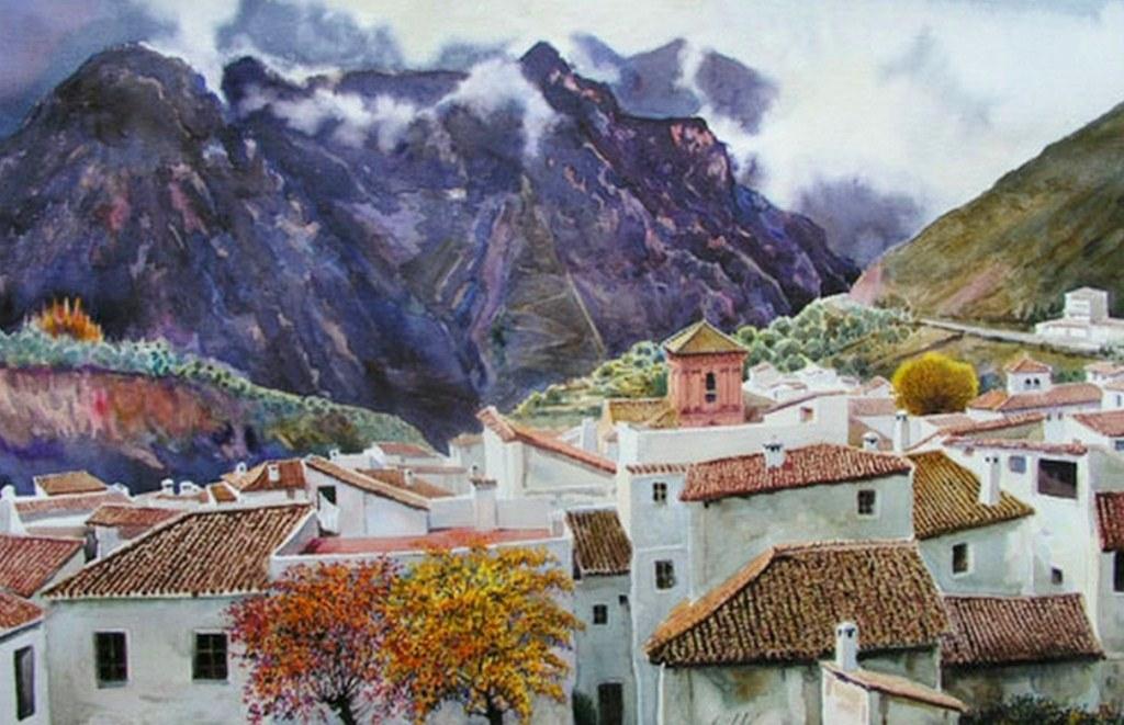 Im genes arte pinturas paisajes pintados en acuarela - Papel pintado paisajes ...