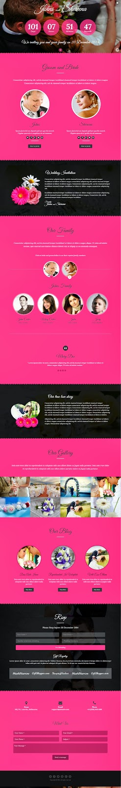 best wedding website theme
