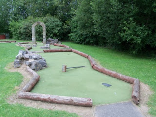 Crazy Golf at the Charlton Lakeside Pavilion in Andover, Hampshire