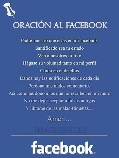 Oración a Facebook